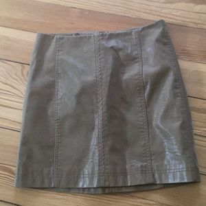 Free People Faux Leather Mini Skirt, Size 4.